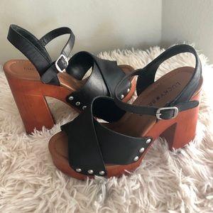 Lucky Brand clog heels